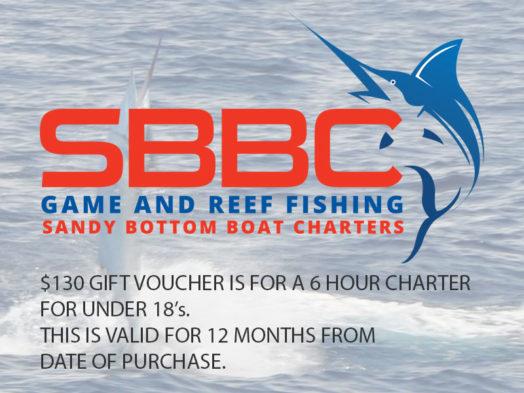 Sandy Bottom Boat Charter - Under 18's Gift Voucher