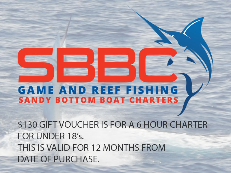 Sandy Bottom Boat Charter - Under 18's Gift Voucher