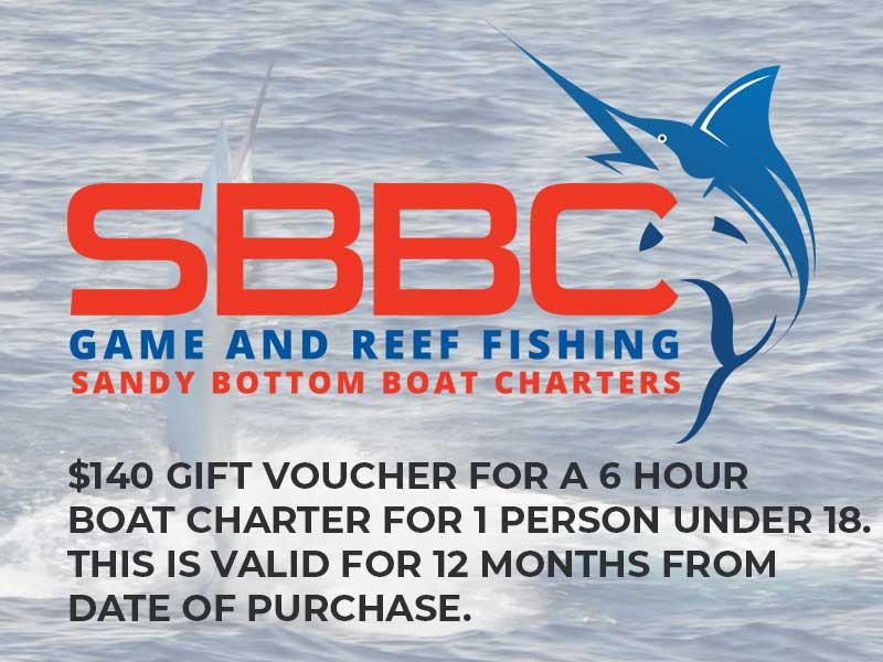 Gift Voucher - Youth / Under 18s | Sandy Bottom Boat Charter, North Coast & Newcastle